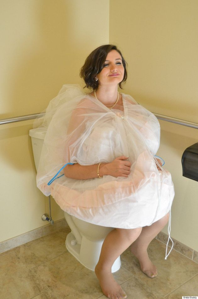 Bridal Buddy Is The New Invention To Help Brides Use The Toilet Easily On Their Wedding