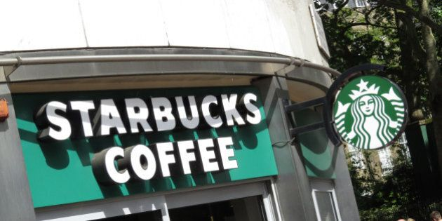 General view of Starbucks Coffee in central London