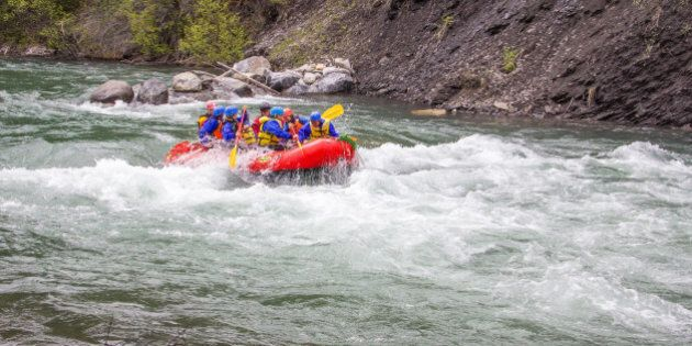 A short hike along the Widowmaker Trail in Kananaskis.The first of a few rafts we