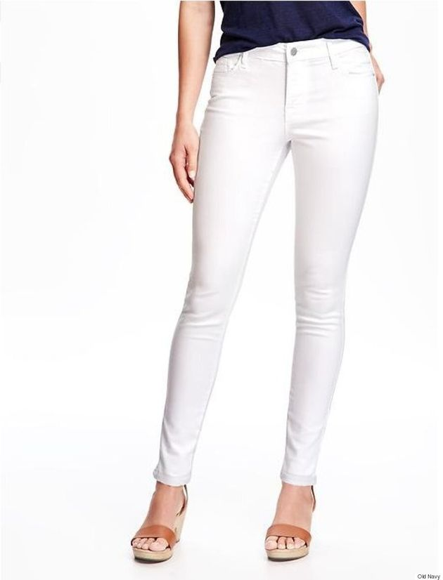 Old Navy Introduces 'Stay-White' Skinny Jeans That Repel