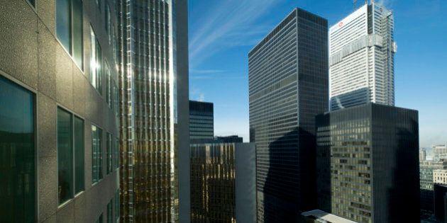 Toronto downtown. Bay Street banking district.