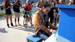 WATCH: Steven Tyler Plays Public Piano In