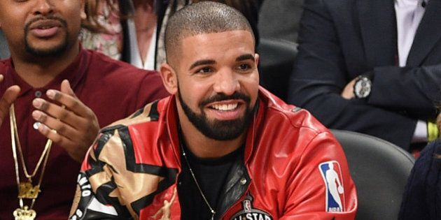 TORONTO, ON - FEBRUARY 14: Drake attends the 2016 NBA All-Star Game at Air Canada Centre on February...