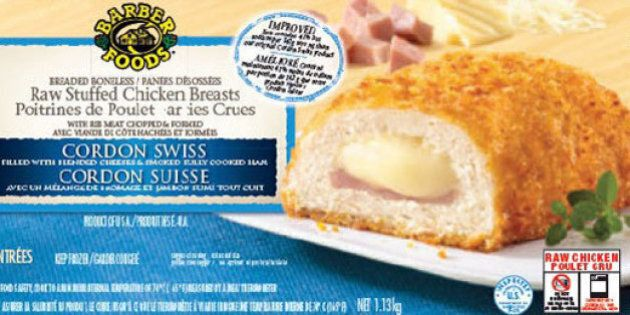 No Name, Barber Foods Stuffed Chicken Recalled Over Salmonella
