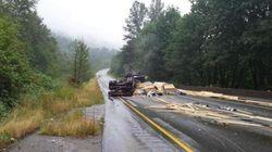 Six-Car Pileup Closes B.C. Highway For
