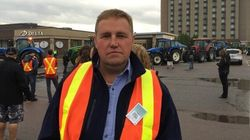 Angry Dairy Farmers Protest Outside Trudeau's