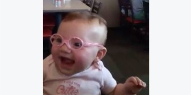 Baby's Reaction To Seeing Clearly Has Us Grinning Ear To