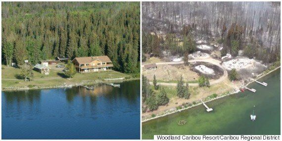 B.C. Fires: Puntzi Lake Wildfire Destroys Homes,