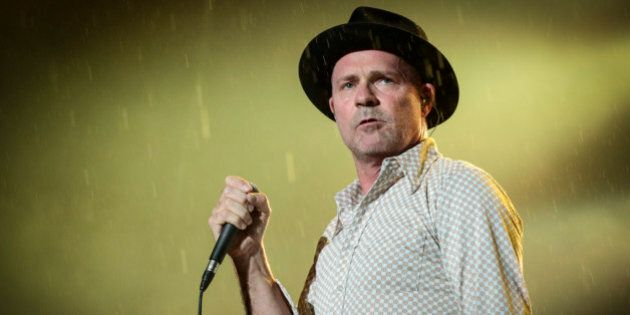 OTTAWA, ON - JULY 17:  Gord Downie of The Tragically Hip performs on Day 9 of the RBC Royal Bank Bluesfest on July 17, 2015 in Ottawa, Canada.  (Photo by Mark Horton/WireImage)