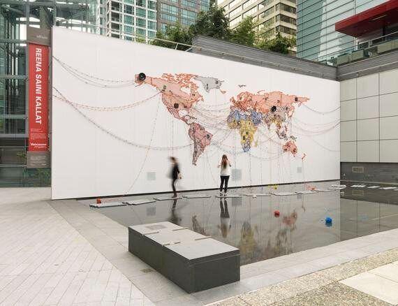 Reena Saini Kallat's Public Art Installation Explores Migration, Longing In