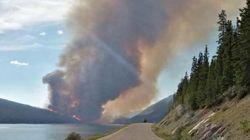 Fire In Jasper National Park Slowed Down By