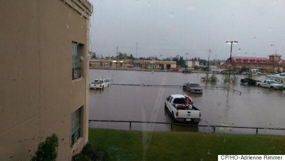 Westlock, Alberta Floods After Heavy