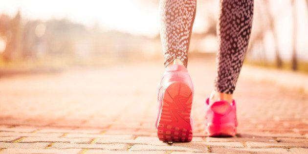 Women running in early