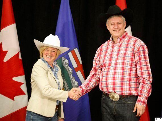 Rachel Notley Wears Cowboy Hat Backwards In Harper