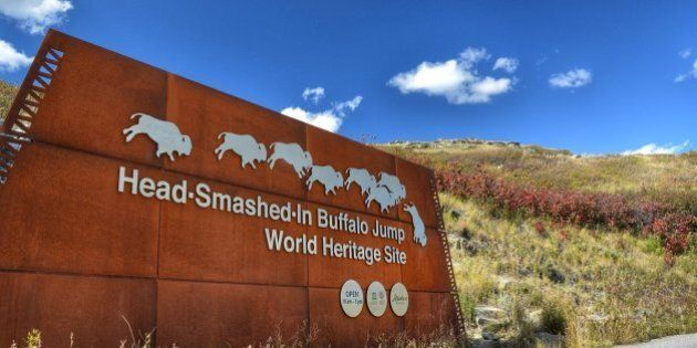 Head-Smashed-In Buffalo Jump's $200,000 Sign
