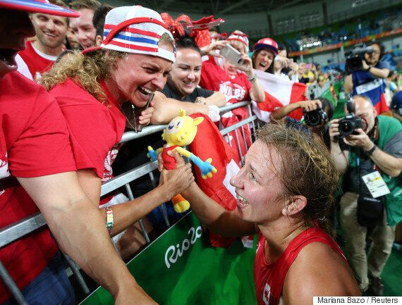 Erica Wiebe's Face After Winning A Gold Medal Screams Olympic