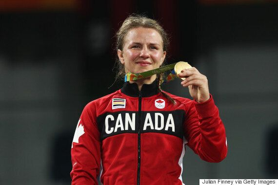 Canada's Erica Wiebe Wins Gold At Rio