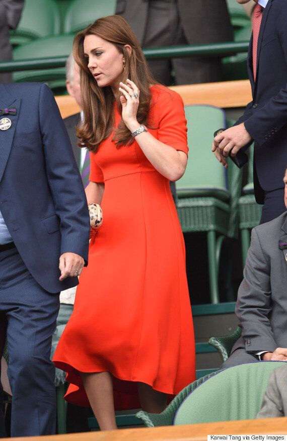 Duchess Of Cambridge Pops With Orange-Toned L.K. Bennett