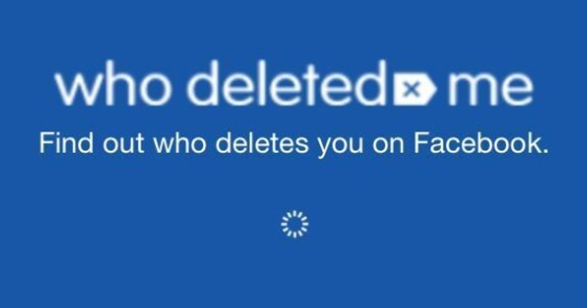 Who has deleted me from facebook