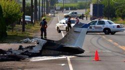 Plane Crashes On Okanagan Highway And Hits
