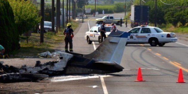 Plane Crashes On Highway 97 Near