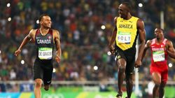 Andre De Grasse Almost Beat Usain Bolt.