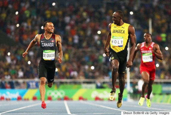 Andre De Grasse Sets Canadian Record, And Almost Beats Usain Bolt At Rio