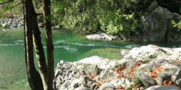 Lynn Creek and Lynn Headwaters Regional Park, North Vancouver, British Columbia,