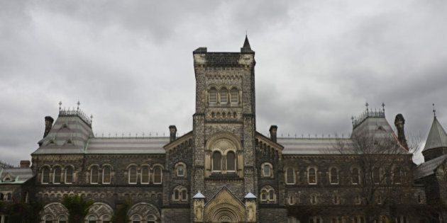 University of Toronto against a cloudy sky in