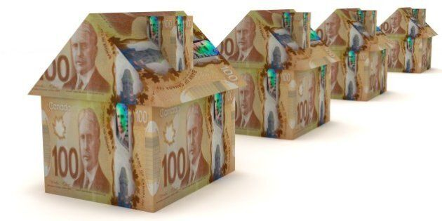 Canadian money real estate house
