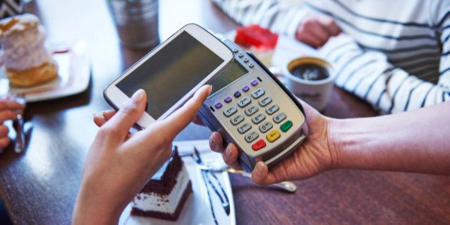 Paying for coffee by mobile