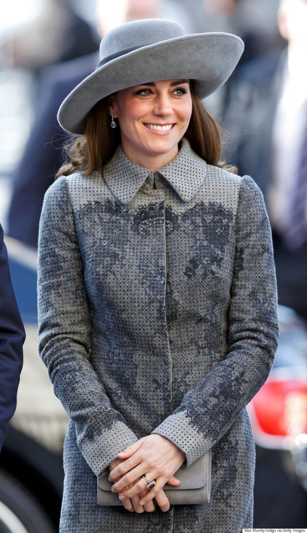 Kate Middleton Goes Monochromatic For Commonwealth Observance