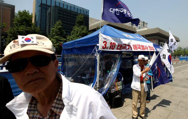 박원순 서울시장이 '애국당 기습 천막'에