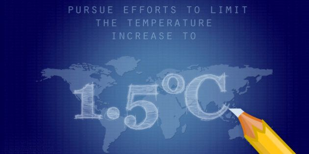 """Holding the increase in the global average temperature to well below 2°C above pre-industrial levels..."