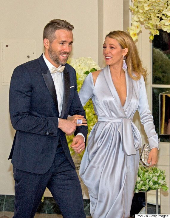 Ryan Reynolds And Blake Lively Attend White House State