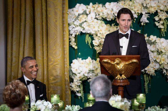 Justin Trudeau Thanks Obama For 'Global Leadership' In State Dinner