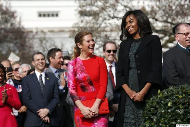 Sophie Grégoire-Trudeau Wears Lucian Matis And Aldo At White House Arrival