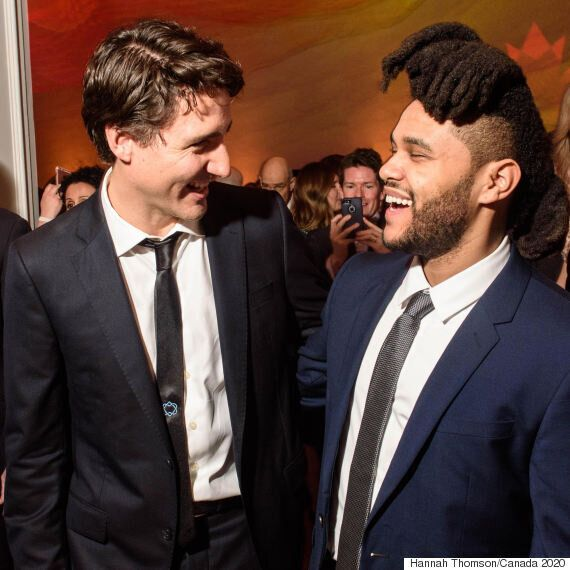 The Weeknd Hangs Out With Justin Trudeau At Canada 2020 Event In