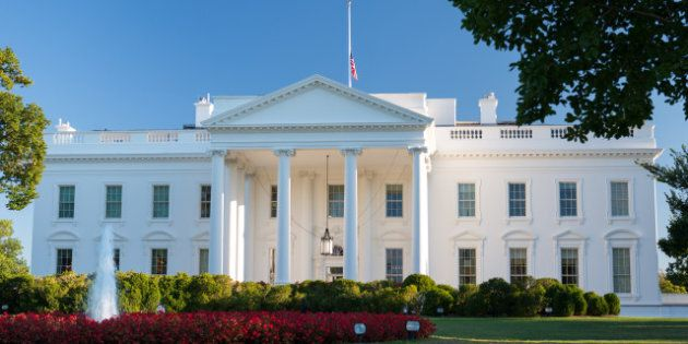 U.S. Flag flies at half-staff at the White House and all Federal facilities due to the Navy Yard shooting...