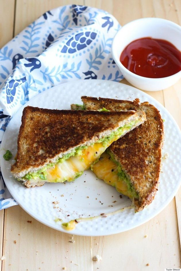 Easy Avocado Grilled Cheese Sandwich: Cooking in
