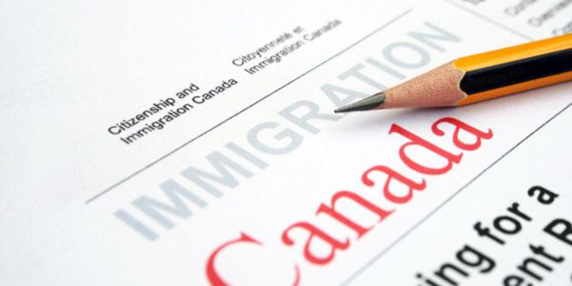 Close up of pencil on immigration form