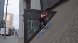 ► Athlete Tackles Climate Change By Snowboarding Without