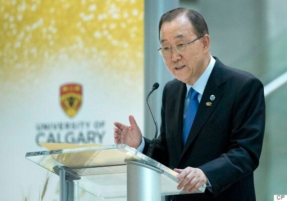 Ban Ki-moon Praises Canada's Response To Refugees Crisis During Calgary