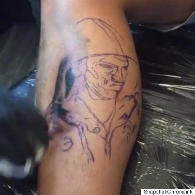 Michael Phelps Death Stare Tattoo Designed By Toronto
