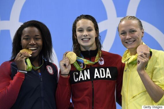 Penny Oleksiak Wins Gold Medal At Rio