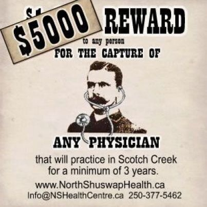Scotch Creek, B.C. Puts Up Wanted Posters For A Full-Time