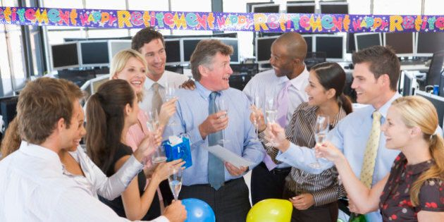 Stock Traders Celebrating In The
