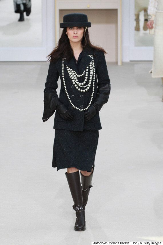 Kendall Jenner, Gigi Hadid And Bella Hadid Star In Chanel's Fall 2016 Runway