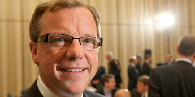 Brad Wall, premier of the province of Saskatchewan, poses during an Economic Club of Canada luncheon...
