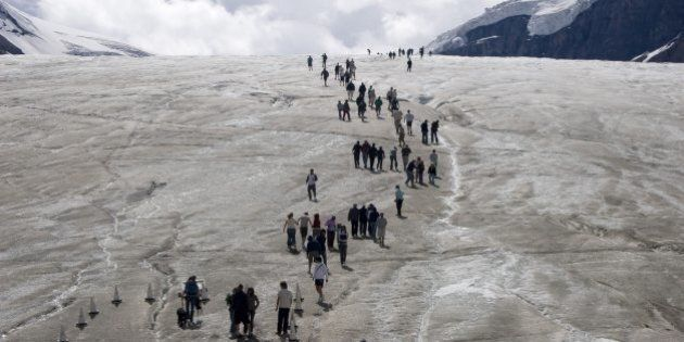 Columbia Icefield's Athabasca Glacier Is A Breathtaking Travel